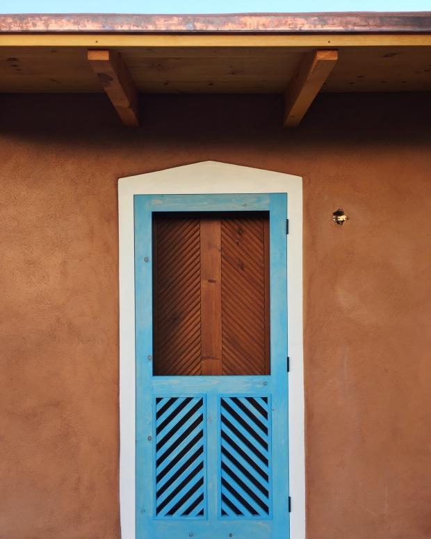 Adobe House Custom Door and Copper Roof