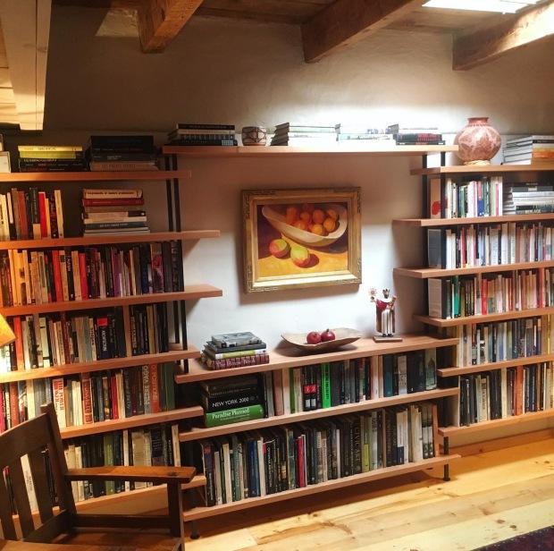 Study Remodel with Spanish Cedar Bookshelf
