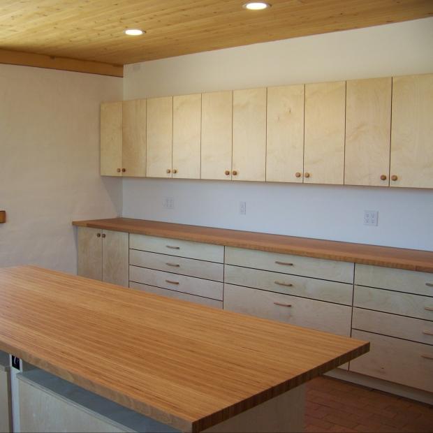 Custom workshop cabinets